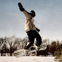 Natural and man-made jumps, ramps and embankments make snowboarding in Lake Carroll, IL an adventure.
