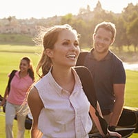 Golfing on Lake Carroll's beautiful links is a great way to enjoy nature and stay fit.